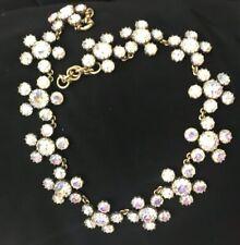 J.CREW  Crystal Cluster Stone Necklace - color CRYSTAL AB NWOT