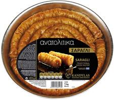 Saragli baklavas doigts avec écrous et sirop, Grecs traditionnels Handmade Pâtisserie,