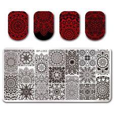 BORN PRETTY Nail Art Stamping Plates Image Templates Floral Pattern BP-L053