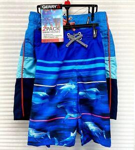 Gerry Youth Boy's 2 Pack Swim Short UPF50+ Swim Trunks Size XL (18/20) - NWT