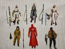 Star Wars Black Series - Loose Lot of 6 - 3 Reys, Praetorian Guard, Rose & Finn