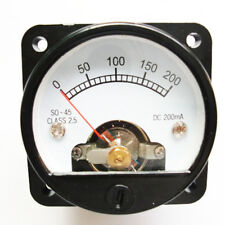 Ammeter So 45 Class 25 Accuracy Dc 0 200ma Round Analog Panel Meter Black