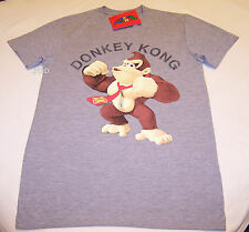 Nintendo Donkey Kong Mens Grey Printed Short Sleeve T Shirt Size M New