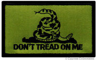 DON'T TREAD ON ME GADSDEN FLAG PATCH AMERICAN SUBDUED GREEN embroidered iron-on