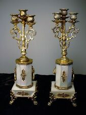 Rare Antique German Gilt Silver Miniature Candelabrum Empire Style Superb!