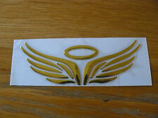 Motorcycle Emblem Sticker 3D Logo Gold Angel Wings
