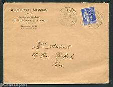 FRANCE - timbre 368 type PAIX, SEUL SUR LETTRE , 28.2.1939