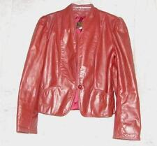 Vintage USA Avant Garde Burgundy Leather Coat Jacket  Size Large~ Timeless