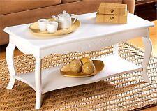 ELEGANT WHITE PINE WOOD COFFEE TABLE ** W/ BOTTOM SHELF ** NIB