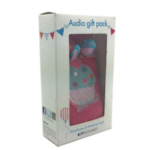 KitSound Universal Smartphone Sock & Earphones Audio Gift Pack - Cupcake Design