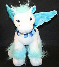 Ganz Webkinz Sapphire PEGASUS PLUSH Stuffed Animal Lovey Blue White