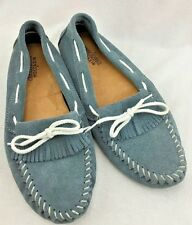 WOMENS MINNETONKA MOCCASIN KILTY DRIVING SHOE SIZE 9 BLUE