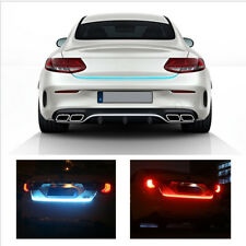 120cm Car LED Tail Light Strip Rear Trunk Dynamic Streamer For Brake&Turn Decor