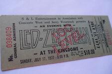 LED ZEPPELIN Original__1977__***UNUSED***__CONCERT TICKET__Seattle__EX+