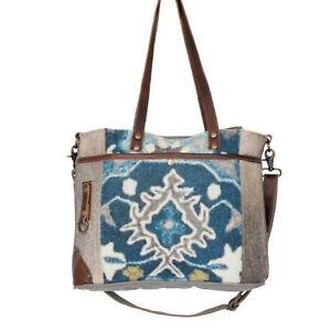 Iridescent Tote Bag, Medium, Blue