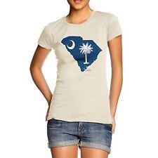 Twisted ENVY mujeres bandera del estado de Carolina del Sur EE. UU. Algodón Premium T-Shirt