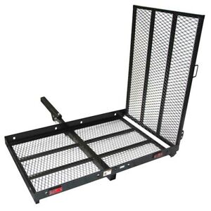 ALEKO Wheelchair Power Scooter Folding Cargo Carrier Rack Foldable Ramp 400LB