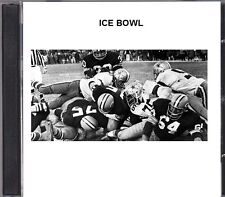 1967 NFL Championship Game ICE BOWL on CD Packers Cowboys at Lambeau Field