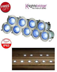 KNIGHTSBRIDGE KIT16B IP65 230V BLUE LED DECKING LIGHT KIT PACK OF 10