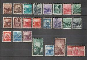 s37917 ITALIA MNH** 1945 Democratica 23v