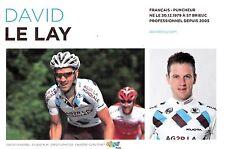 CYCLISME carte cycliste DAVID LE LAY  équipe AG2R prévoyance 2011