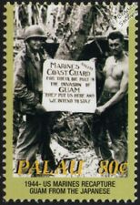 WWII 1944 US Marines Salute Coast Guard for Invasion & Capture of Guam Stamp