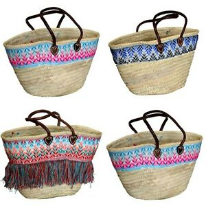 Morrocan Tassle Style Shopping Bags Market Bag Storage 3 colours Leather