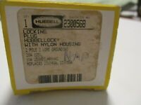 (A) Hubbell Hubbellock Locking Plug HBL23005GB 20A 125V, Non-Shrouded 2 P 3 W