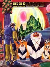 Revista Vintage Alien Sci Fi Júpiter fantásticas aventuras 1940 cartel CC3304
