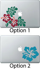 Hibiscus Flower Sticker Apple Mac Book Air/Pro Dell Laptop Decal Design Hawaii