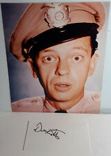 Barney Fife TV 8x10 Photo w Signed Index Card by Don Knotts-FREE S&H(LHAU-240)