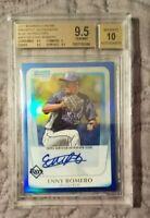 2011 Bowman Chrome Prospect Autograph Blue Refractor Enny Romero BGS 9.5 069/150