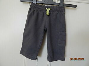 CARTERS BABY BOYS DARK GREY COTTON JOGGING BOTTOMS 3 MONTHS WITH POCKET