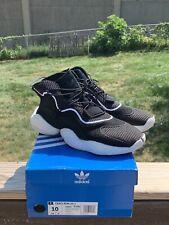 Adidas Originals CQ0991 Men's Crazy BYW Shoes - Black / White / Purple - US 10