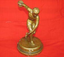 RARE Antique metal sport statue discus thrower USSR 1930s