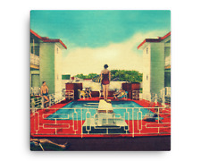 Swimming Pool Print like Poolside Gossip, Mid Century Decor, Colorful Canvas Art