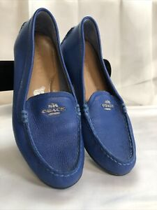 Coach Mary Lock Up Loafers in Blue Size 6B