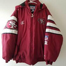Vintage San Francisco 49ers Logo Athletic NFL Pro Line Puffer Jacket Size XL