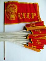 USSR flag,vintage small flag,coat of arms of the Soviet Union Original