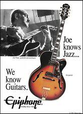 Joe Pass Signature Epiphone Emperor guitar 1991 ad 8 x 11 advertisement print