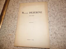 1929.Plaquette sur Augusta Dejerine-Klumpke..