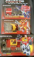 Transformers G1 Reissue OPTIMUS PRIME HOT ROD BLASTER Lot of 3 Walmart