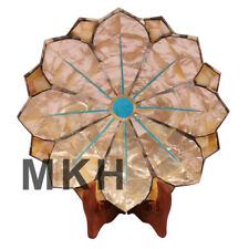Vintage Marble Fruit Bowl Lotus Leaf Design Inlay Gemstone Pietra Dura Gift Lb18