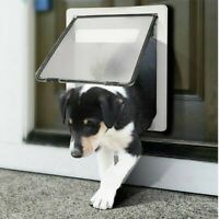 Puppy Dog Door Pet Large Glasses Door Self-in and Out Freely Lockable Funny Gate