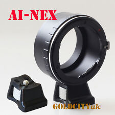 Nikon D/F/S AI to Sony E NEX NEX-3 NEX-5 NEX6 Nex7 Camera Adapter With Tripod