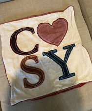 Cushion Pillow Cover Case Sofa Decor COSY Red Heart Home