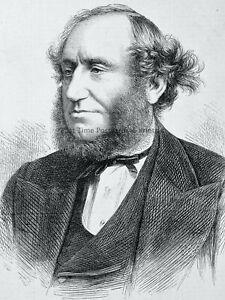 1871 Original Print PORTRAIT of SIR GEORGE ELVEY, DOCTOR OF MUSIC
