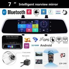 7'' 1080P Car DVR GPS Android 5.0 Dual Lens Car Rear View Mirror Monitor Camera