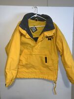 Gear For Sports Mens Small Michigan Yellow Zip Button Long Sleeve Fleeced Lined