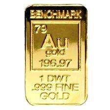 1/20 Troy Ounce ( 1 DWT ) .999 Fine 24k Gold Bullion Bar - In Assay Card